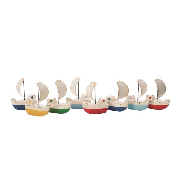 Sada 8 dekoratívnych lodičiek Galleon