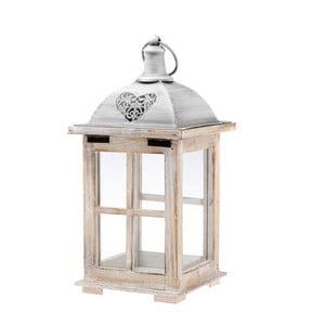 Biely drevený lampáš Dakls Hanz