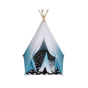 Päťuholníkové bielo-modré teepee Vigvam Design Ombré