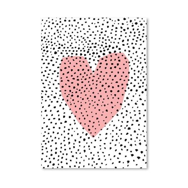 Plagát Dotty Heart, 30x42 cm