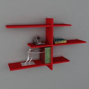 Polica Amentes Book Red, 22x116x73 cm