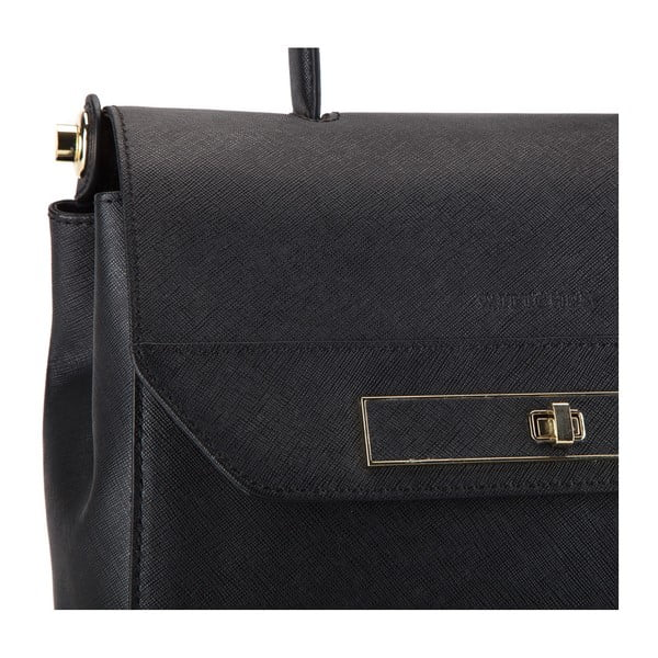Kožená kabelka Elegance Office Black