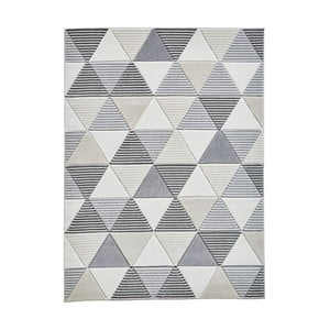Sivobéžový koberec Think Rugs Matrix, 160 x 220 cm