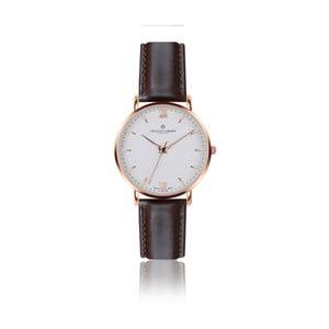 Pánske hodinky s tmavohnedým remienkom z pravej kože Frederic Graff Rose Dent Blanche Dark Brown Leather