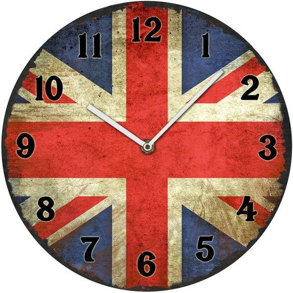 Sklenené hodiny UK, 30 cm