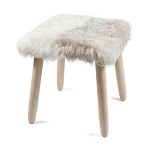Drevená stolička s poťahom z jahňacej kože Arctic Fur Merro