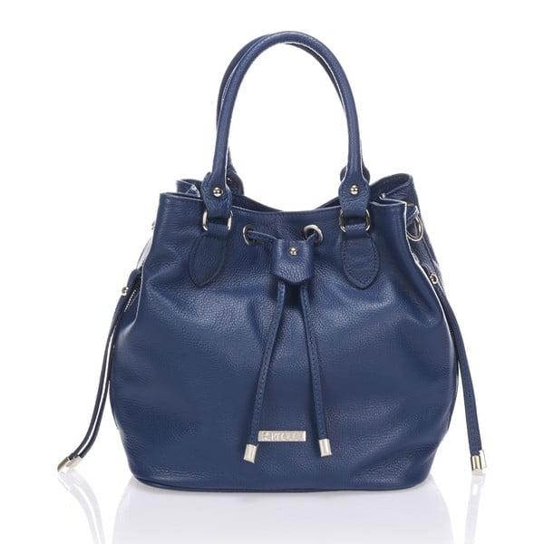 Kožená kabelka Krole Kenna, modrá