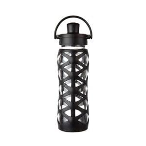 Sklenená fľaša na vodu so silikónovým chráničom Lifefactory Onyx Activ, 650 ml