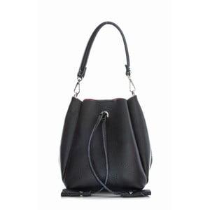 Čierna kožená kabelka Sofia Cardoni Marana
