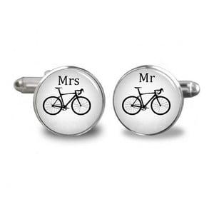 Sada 2 manžetových gombíkov Butoni de Camasa Mr and Mrs Bikers