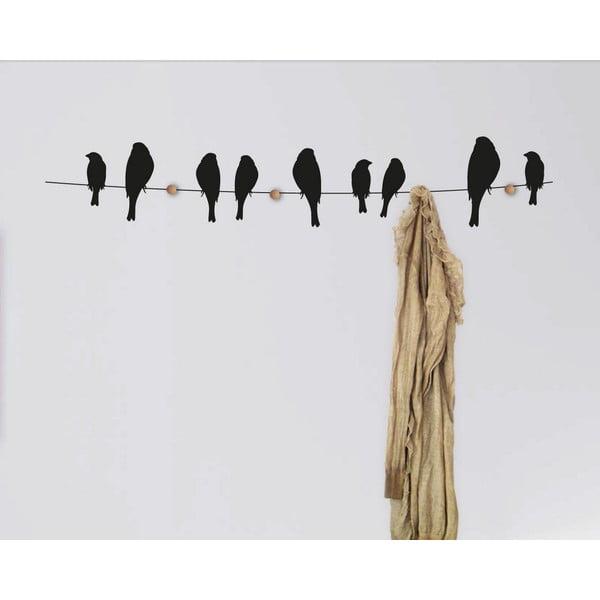 Samolepkový vešiak Birds