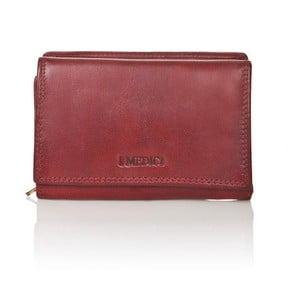 Červená dámska peňaženka z teľacej kože Medici of Florence Marina