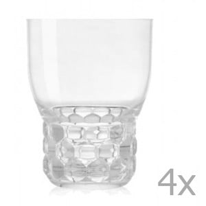 Sada 4 pohárov Kartell Jellies, 400ml