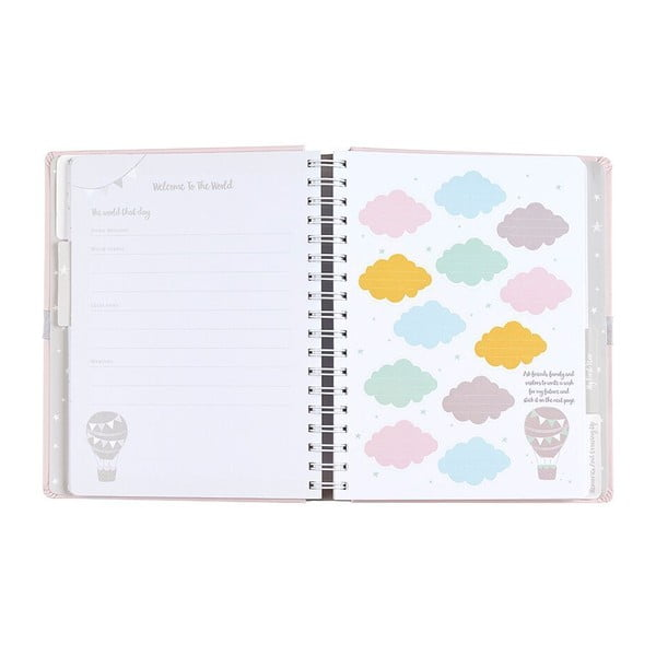 Ružový denník bábätka Busy B