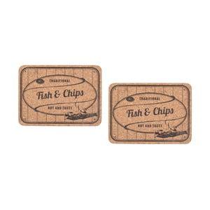 Sada korkového prestierania 2 ks Fish&Chips