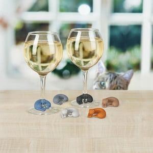 Sada 6 rozlišovačov na pohár Fred & Friends Wine Lives