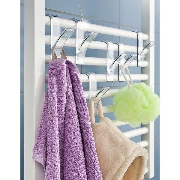 Sada 2 háčikov na uteráky Radiator, transparent
