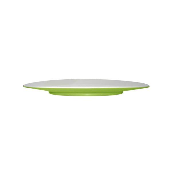 Zelený dezertný tanier Entity, 21cm