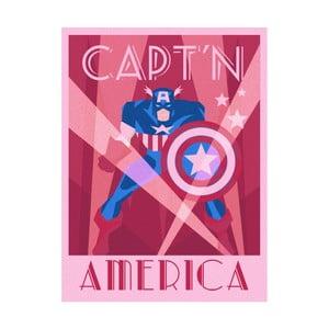 Obraz Pyramid International Marvel Deco Captain America, 60 × 80 cm