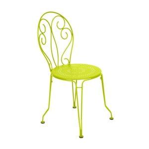 Limetkovozelená kovová stolička Fermob Montmartre