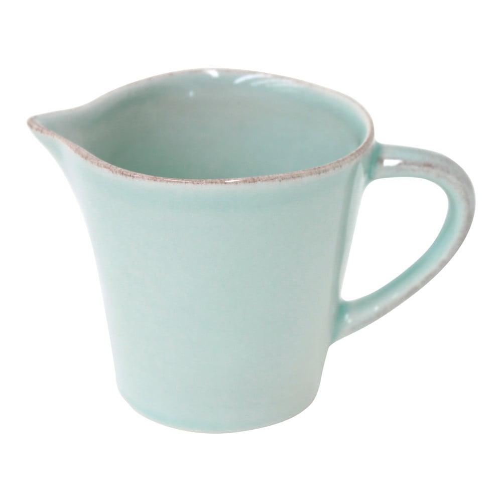 Tyrkysová kameninová nádoba na mlieko Ego Dekor Nova, 200 ml