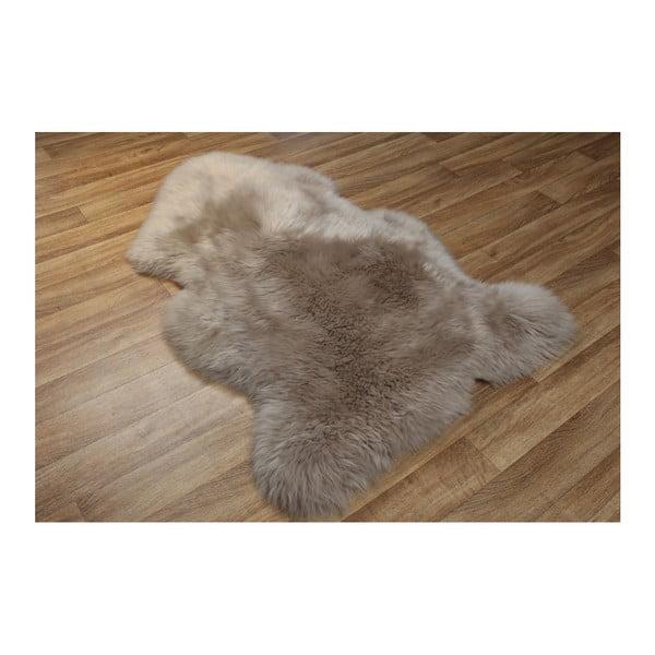 Hnedosivá kožušina Eko Rugs, 75×105 cm