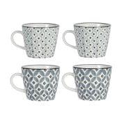Sada 4 porcelánových hrnčekov Old Floor Cups