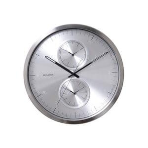 Strieborné hodiny Present Time Multiple Time