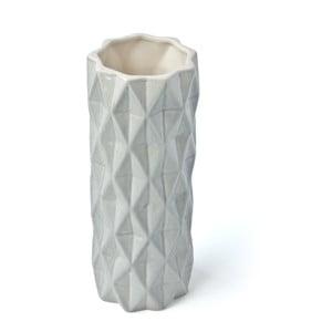 Sivo-biela váza Hawke&Thorn,výška19cm