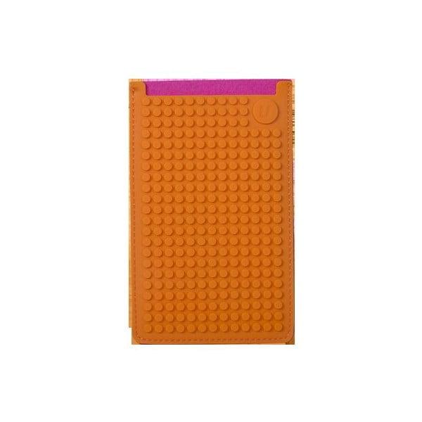 Univerzálny veľký obal na telefón PixelArt, fuchsia/orange