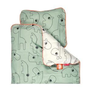 Detské zelené obliečky Done By Deer Contour, 100×130cm