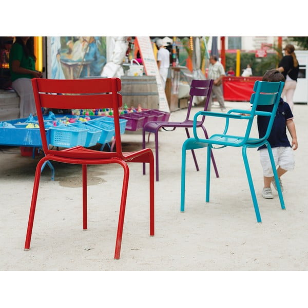 Sada 2 tyrkysových stoličiek Fermob Luxembourg