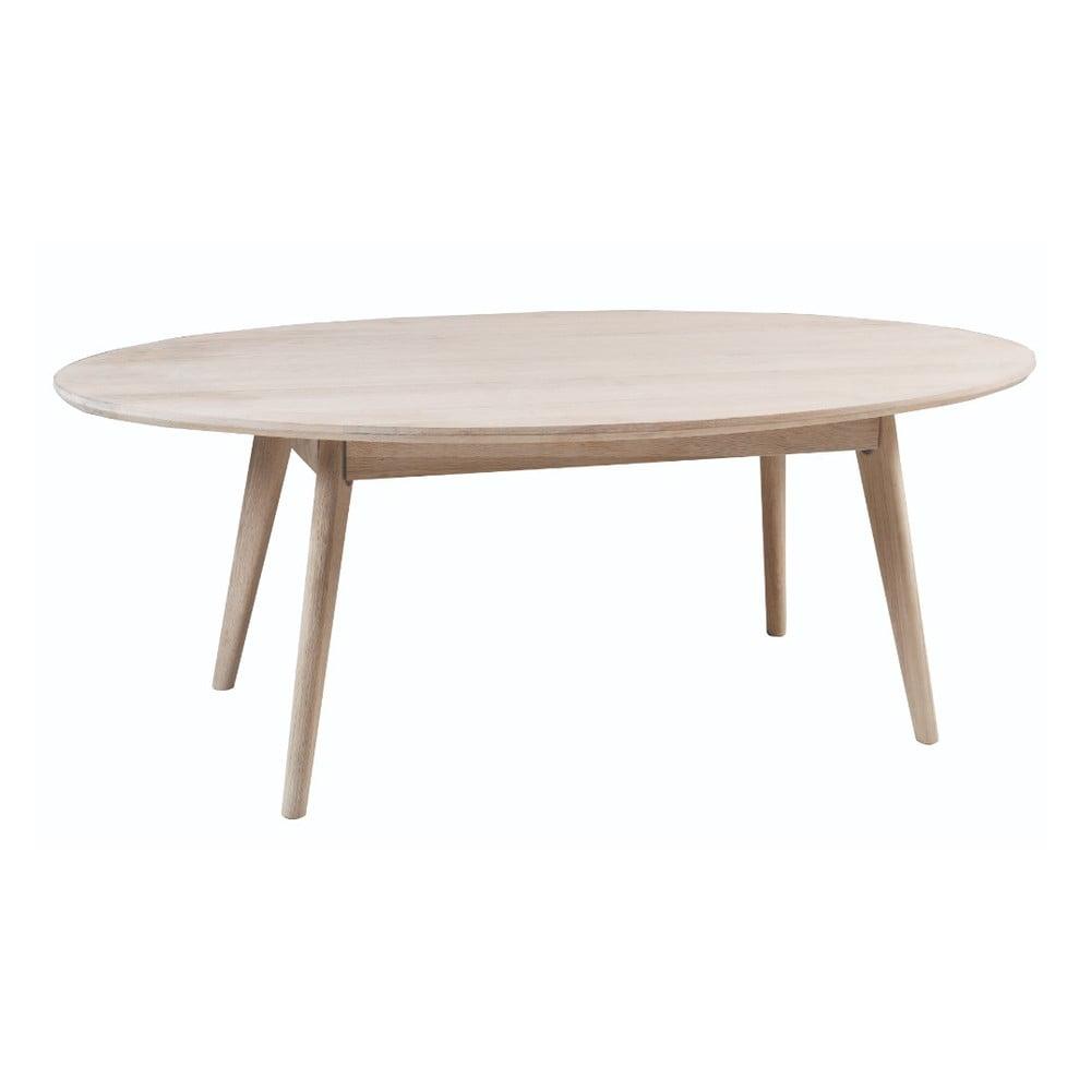 Konferenčný stolík z bieleného dubového dreva Folke Yumi, 130 × 65 m