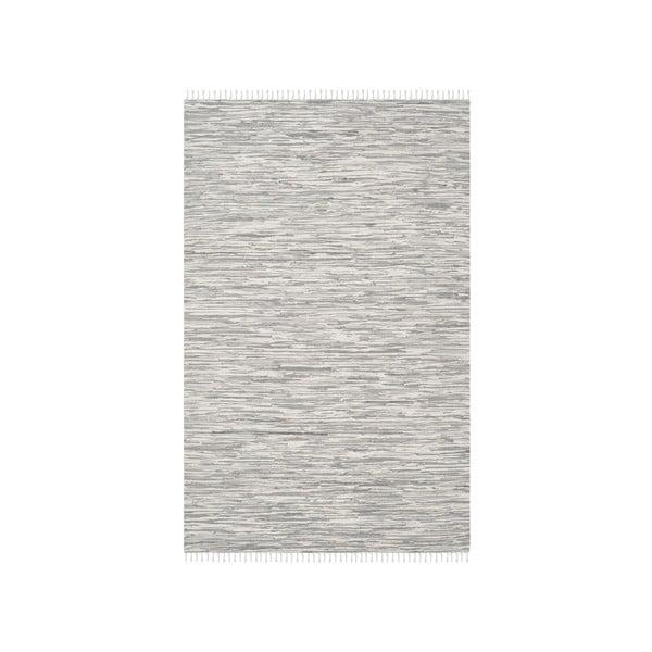 Bavlnený koberec v striebornej farbe Safavieh Cabrera, 121×182 cm