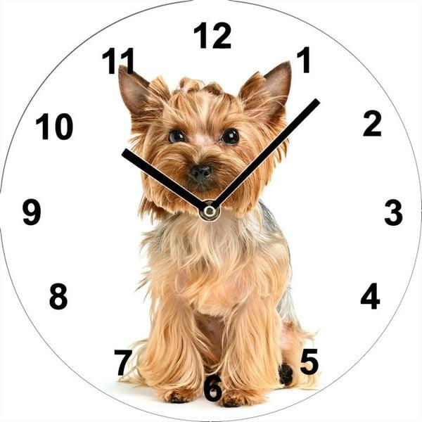 Sklenené hodiny Jorkšír, 34 cm