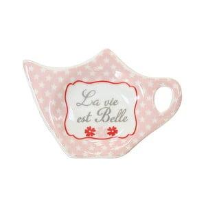 Miska na čajové sáčky Krasilnikoff Pink Stars