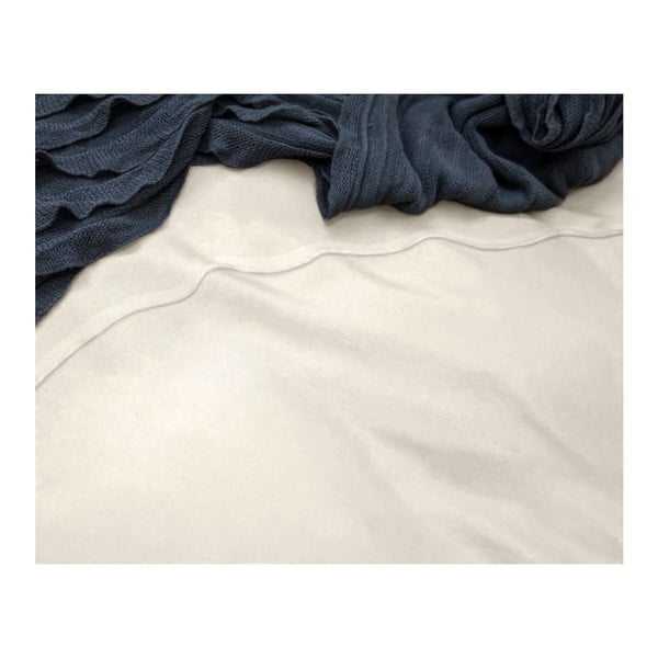 Krémové obliečky z mikroperkálu na dvojlôžko Sleeptime Monte Carlo, 200×200 cm