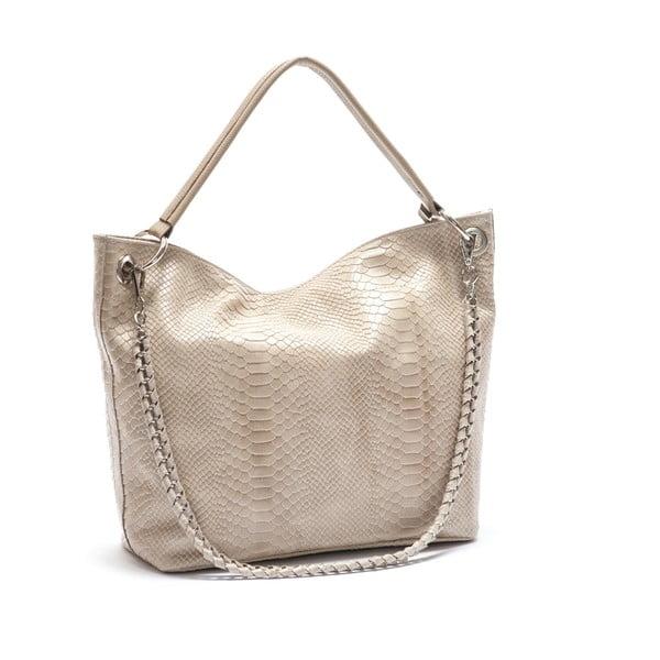 Béžová kožená kabelka Mangotti Lantana