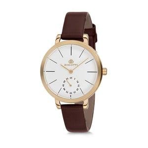 Dámske hodinky s hnedým koženým remienkom Bigotti Milano Oceania