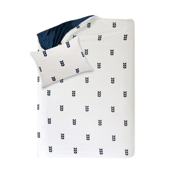 Biele obliečky Hawke&Thorn Finch Straw, 150 x 200 cm + vankúš 50 x 60 cm