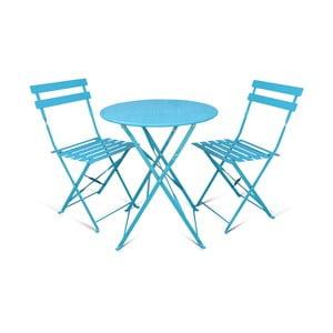 Sada 2 skladacích zahradných stoličiek a stolíka Crido Consulting Aqua