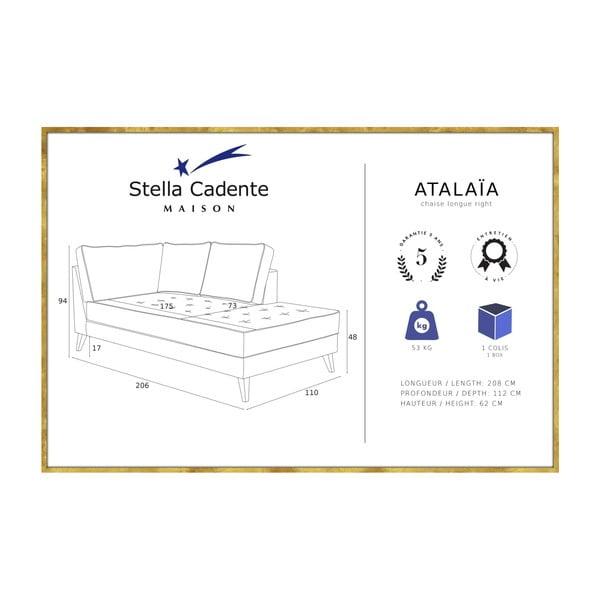 Béžová leňoška s krémovým lemovaním Stella Cadente Maison Atalaia, ľavá strana