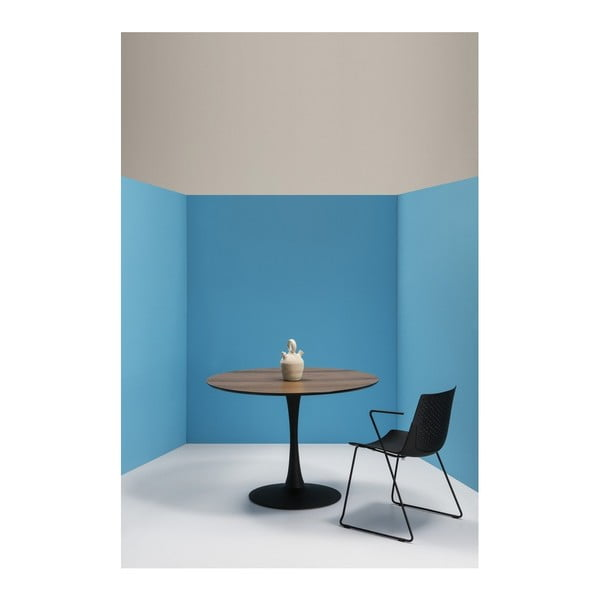 Okrúhly jedálenský stôl s doskou v orechovom dekóre Marckeric Oda, ⌀ 110 cm