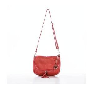 Kožená kabelka Paolo, červená
