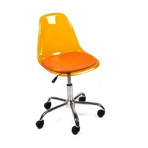 Pracovná stolička na kolieskach Plato, oranžová
