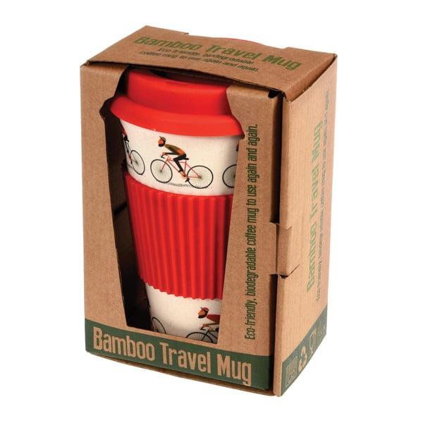 Bambusový cestovný hrnček s červenými detailmi Rex London LeBicycle, 400ml