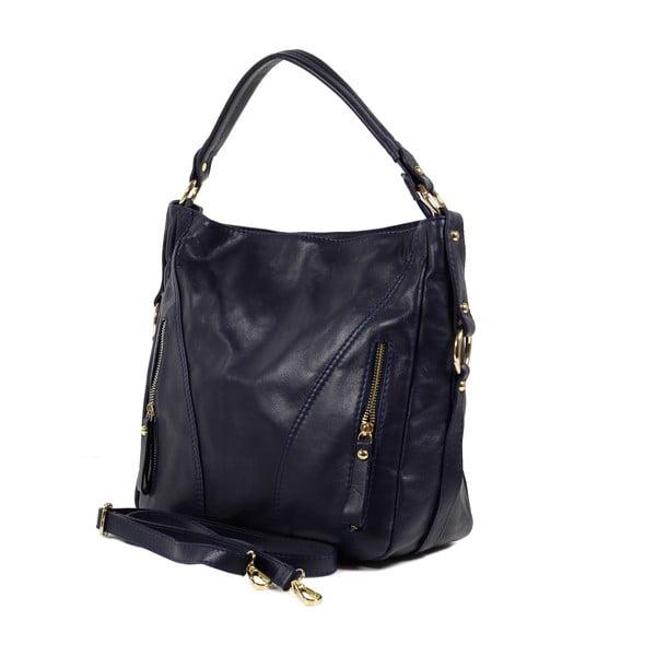 Kožená kabelka Linda, tmavo modrá