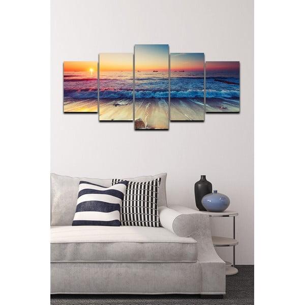 Päťdielny obraz Tropical Paradise Sunset