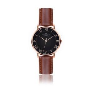Pánske hodinky s koňakovohnedým remienkom z pravej kože Frederic Graff Rose Dom Cognac Leather