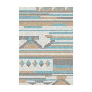 Modro-béžový koberec Universal Narvik, 57x110cm